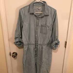 Light denim shirt dress